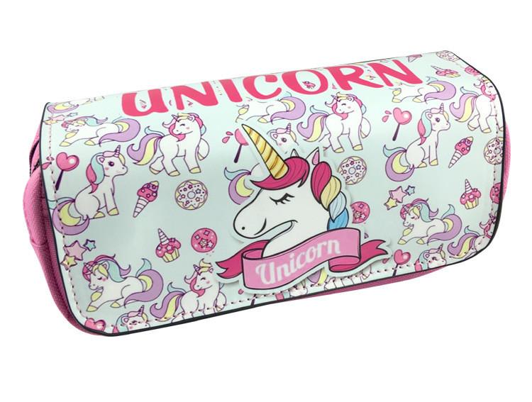 4 design unicórnio saco do lápis zipper escola lápis case para meninas meninos pu bolsa de couro saco de papelaria bolsa escola saco de armazenamento T1I898