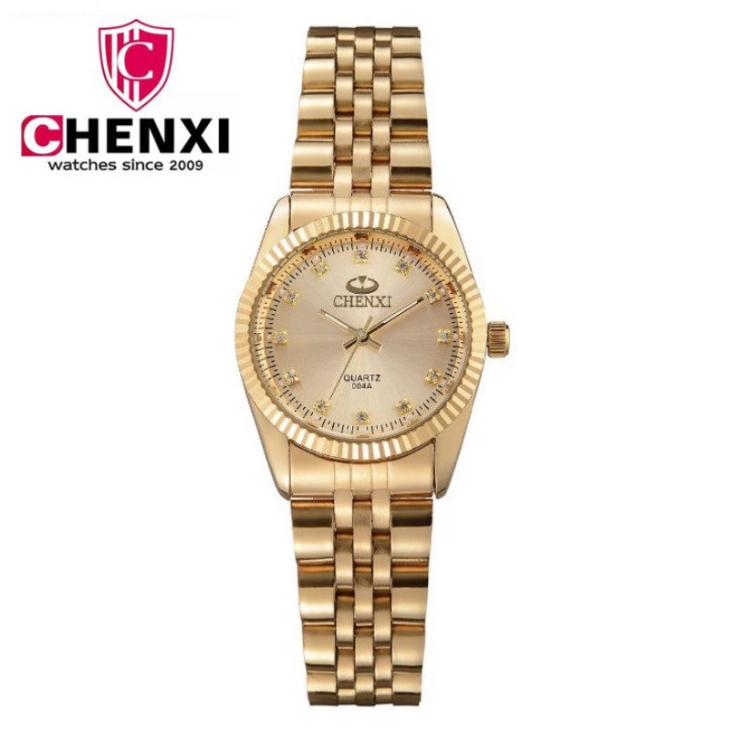 CHENXI Golden New Clock gold Fashion Women Watch full gold Stainless Steel Quartz Watches Wholesale Women Gold watch PENGNATATE Y1890304