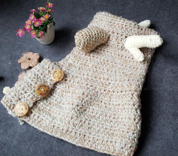 Kinder Hut Handschuh Set Winter Wolle Elk Kapuzen Hut Schal Handschuhe 3 in 1 Baby warme Strickmützen Weihnachtsgeschenk Crocket Hut KKA5993