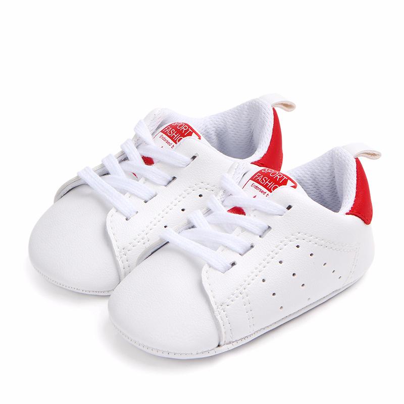 Moda Bebek PU Deri Bebek İlk yürüteç yumuşak soled bebek kız ayakkabıları Ayakkabı 0-18M için Yenidoğan erkek Sneakers