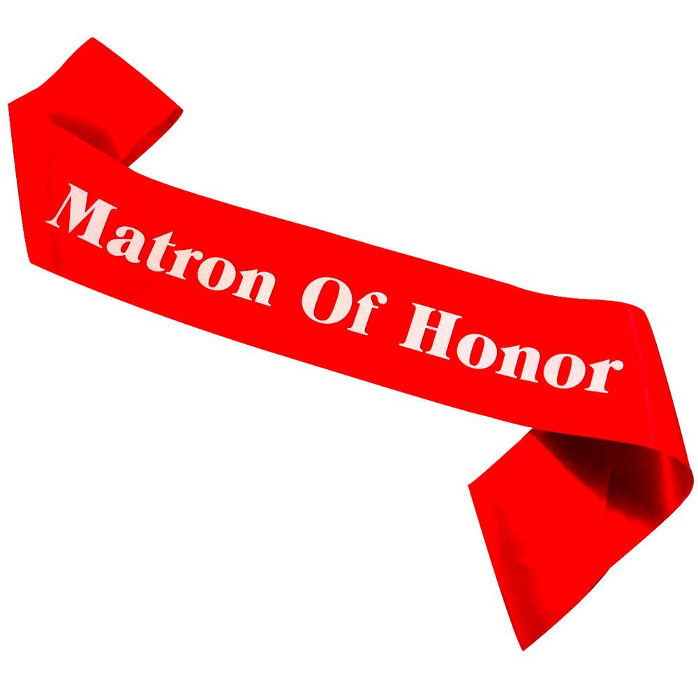 Mation of Honor sash White printing bridal shower celebrate sexy hot pink elegent purple ribbon bachelorette hen party