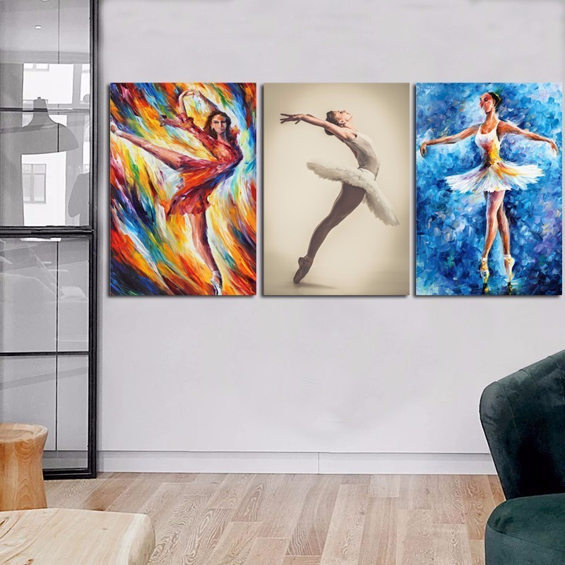 Hot Sale sexy open photos Ballet Girl b f wallpaper Wall art 2018 canvas painting Poster Body The new listing