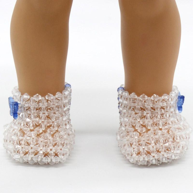 Bitty Baby dolls NIP-light blue sandals for  American Girl
