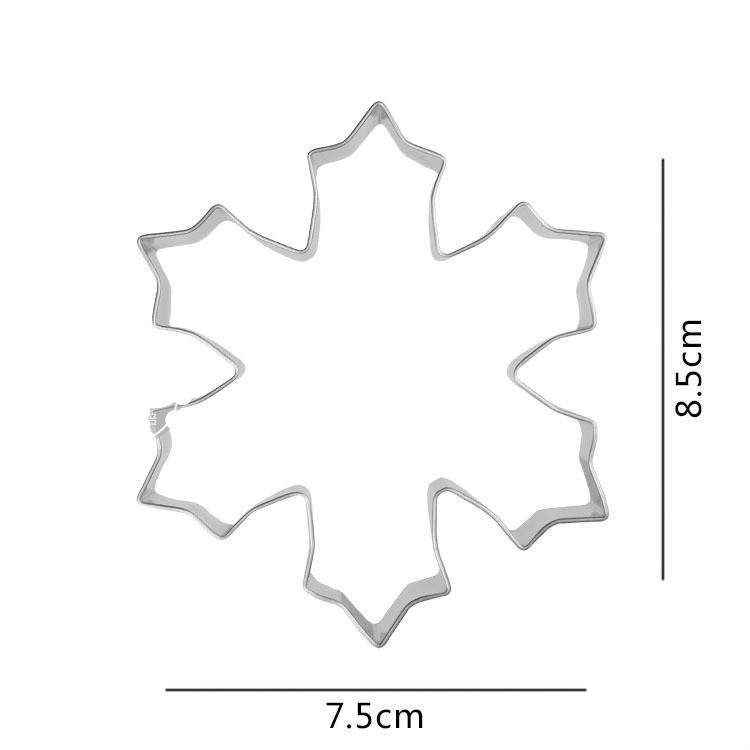 Stainless steel Christmas Winter snowflake cookie cutter metal biscuit mold