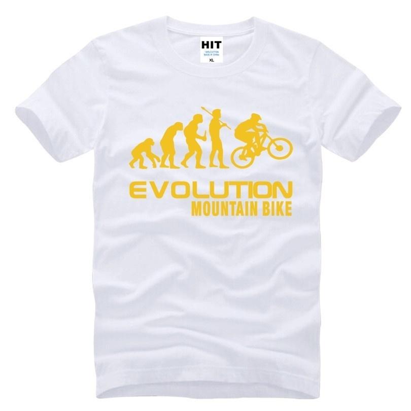 Evolution Of Mountain Bike Creative Novelty Printed Mens Men T Shirt T-shirt 2018 New Short Sleeve O Neck Cotton Tshirt Tee