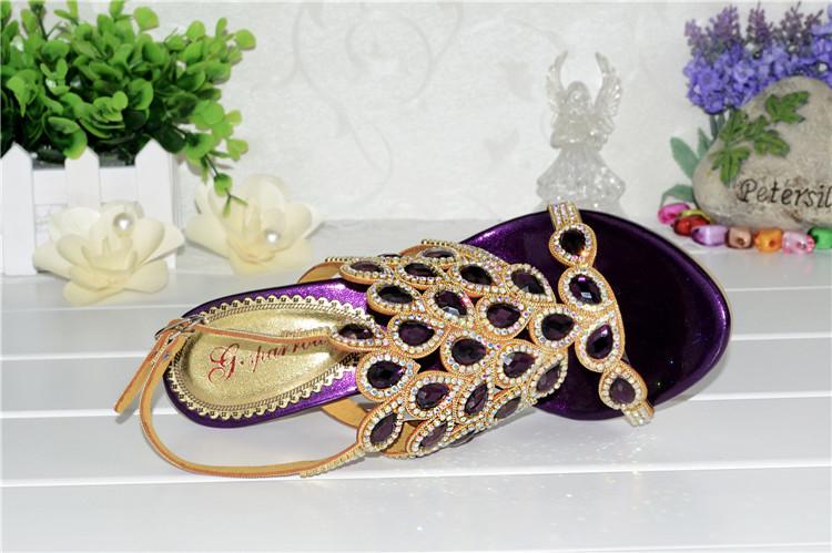 Korean Style Diamond Crystal Luxury Sandals High Heels Roman Womens Purple Evening Shoes Plus Size 11 Fashion 2016 Summer12