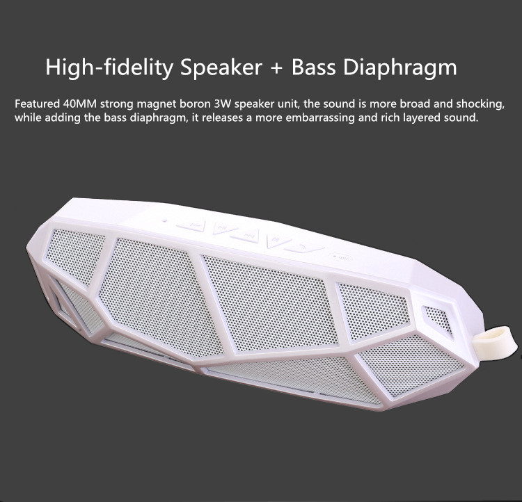 Outdoor Speaker Super Bass FM Radio MP3 Hifi Speakers Audio Mini Bluetooth Portable TF Card Speaker For iPhone Samsung Xiao iPad écouteurs b