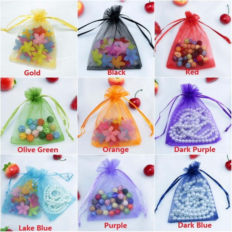 organza gift jewelry packaging bags pouches (259)
