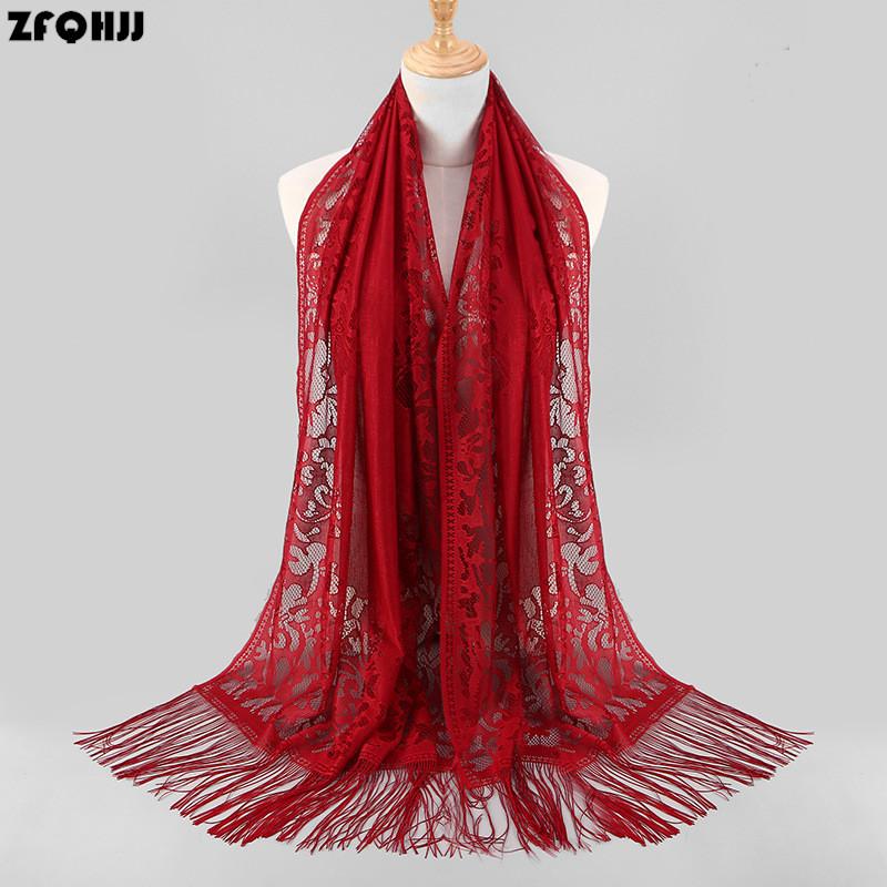 Muslim Women Lurex Style Hijab Long Scarf Tassel Shawls Arab Shayla HeadScarf