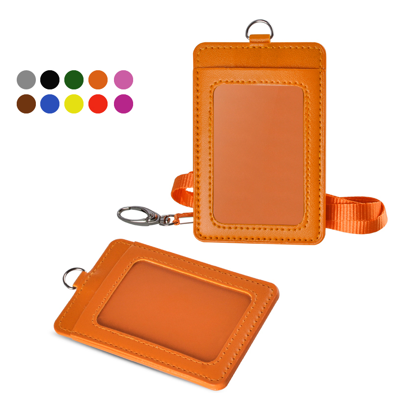 100 PCS Vertical Quality Plastic ID Card Holder lanyard work badge HARD CASED