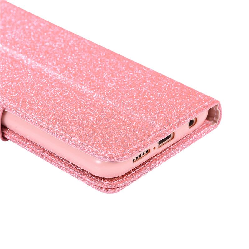 Case For Huawei P20 lite cover glitter Star diamond love flip wallet leather case For Huawei Nova 3e case silicon TPU back cover27