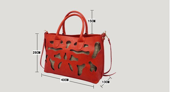 2015 nouvelles femmes en cuir sacs à main pour femme styliste percé fourre-tout personnalisé sac à bandoulière sac messager gland hangbags