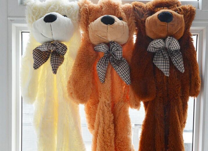 Teddy Bear Skins Plush Soft Toy Dolls Giant empty Bear animal skins shell for kids Cute Peluche Animal Stuffed Toys Gifts (5)