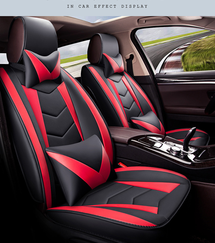 New Universal Pu Leather Car Seat Covers For Lifan 520 620 720 X60 X80 2017 2016 2015 2014 2013 2012 Protector