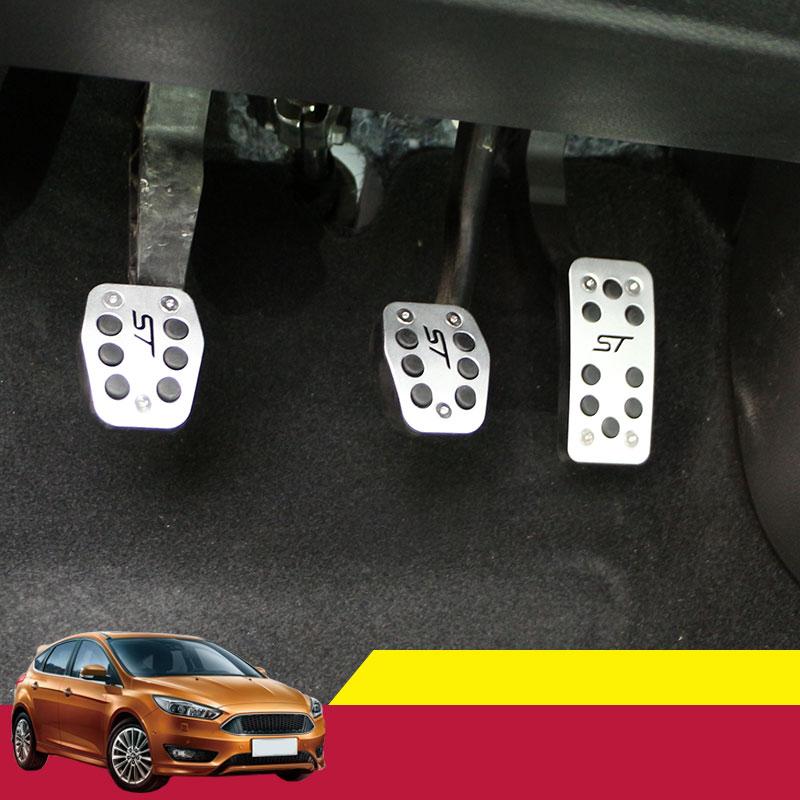 Pédale de frein à pédale en alliage d'aluminium pour pédales d'embrayage pour Ford Focus 2 MK2 3 4 Kuga Escape ST 2005 - 2012 2013 2014 2015 2016