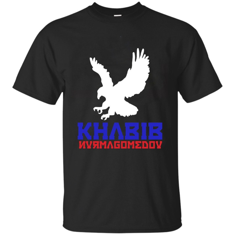New-Khabib-Nurmagomedov-The-Eagle-Tshirt-Print-Logo-Black-Gildan-Mens-Size-S-2XL
