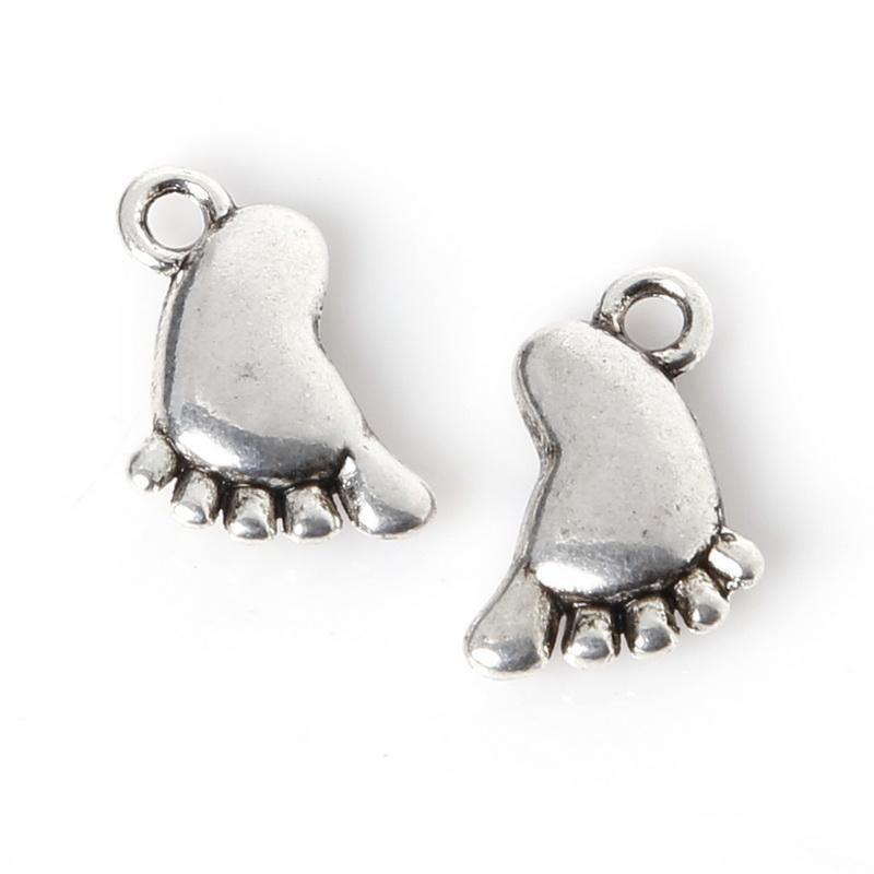 alliage d/'argent Pendentifs 10pcs Paw Bijoux Finding Making À faire soi-même accessoires
