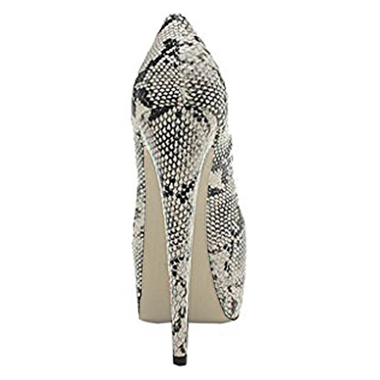 2018 New Fashion Snake Ledpard Round Toe Platform Stiletto High Heels Wood grain Women Pumps Customized Big Size Wedding shoes