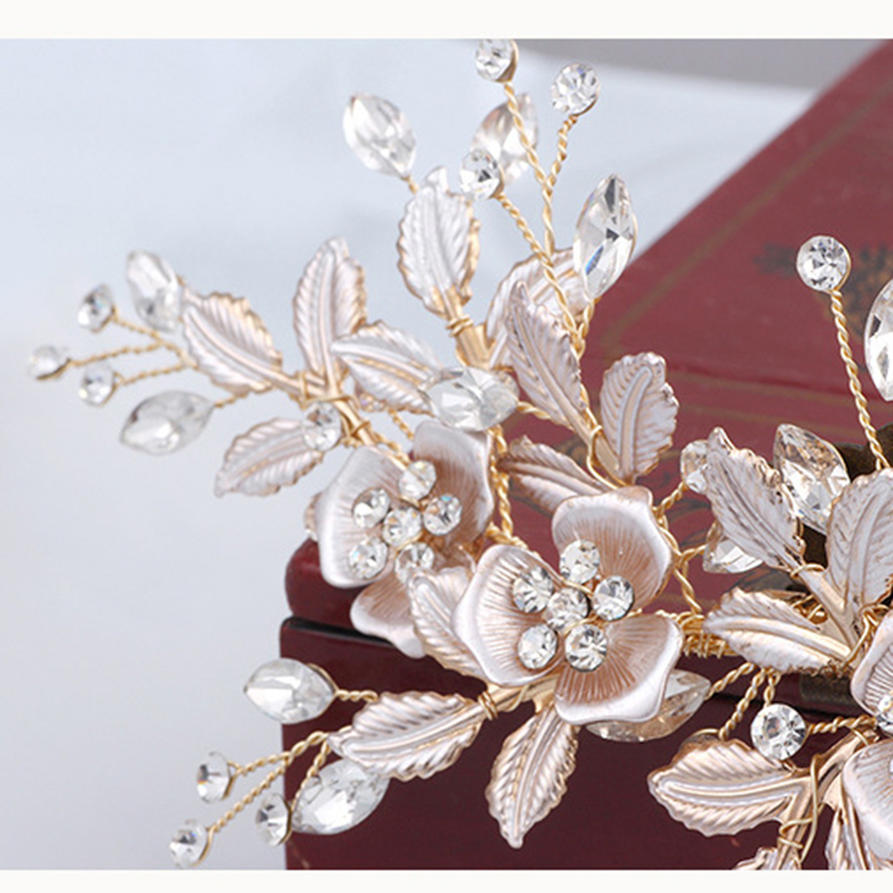 Hair Clips Flower Crystal Headpiece Headwear Wedding Accessories Hair Pin for Princess Bridesmaid Bride C18110801