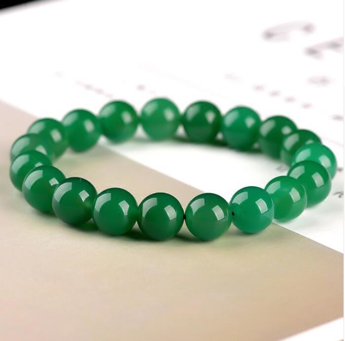 Chino Natural Verde Jade jadeíta Gemas Brazalete Dije Joyería Pulsera 56-62mm