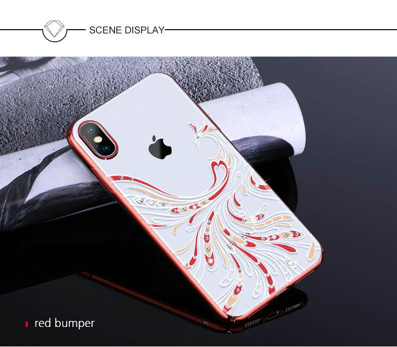 KINGXBAR Cover for iPhone Xs Cover Luxury Transparent Case for iPhone Xs Max Case Crystals from Swarovski for iPhoneXs Coque (12)