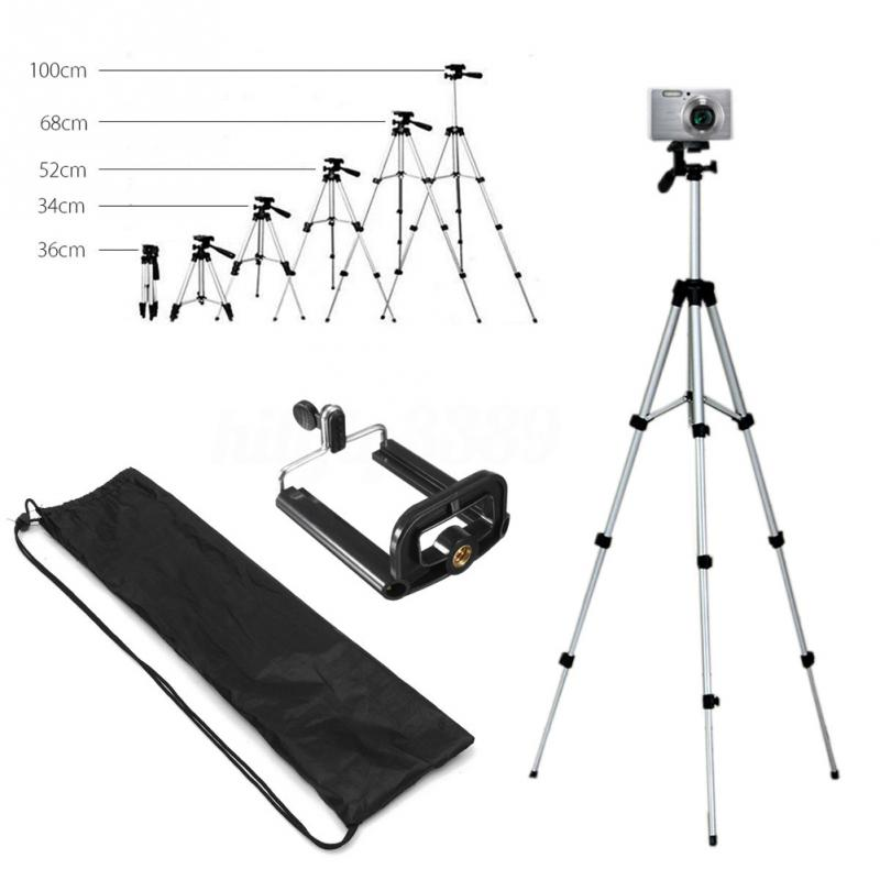 Tripods camera stand cam smartphone mobile phone holder monopod tripe extension stick tripod for camera standaard (5)