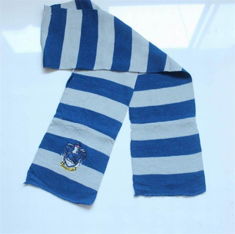4 цвета шарфы шарф колледжа гарри поттер шарфы серия гриффиндорский шарф с эмблемой косплей вязать шарфы хэллоуин костюмы