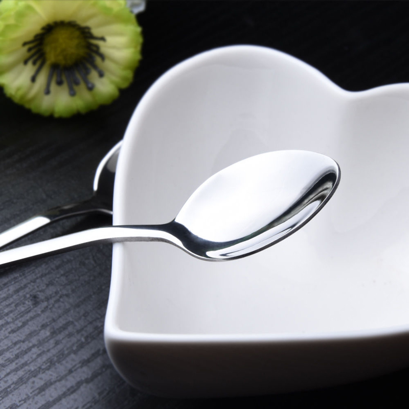 Mayitr 12pcs Long Stainless Steel Cream Cocktail Ice Mixing Coffee Ice Cream Soup Honey Spoon Long Handle Tea Spoons