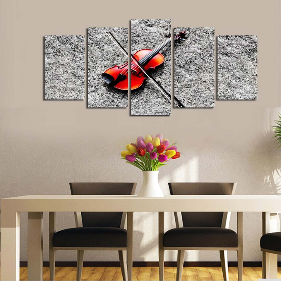 Modular Canvas Wall Art Pictures Frame Poster Music Red Guitar Home Decoration For Living Room Modern HD Print Painting