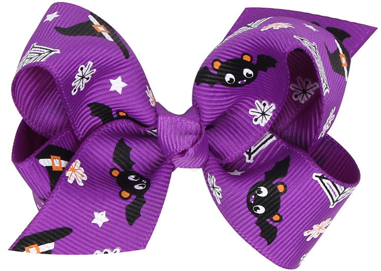 Halloween pumpkin Hair Bow With Clips For Kids Hair Pumpkin hairpins Barrettes Bow Halloween Hair Accessories best gifts LE147