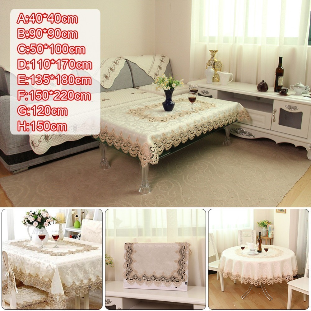 European Embroidery Water Soluble Lace Tablecloth Home Party Wedding Living Room Restaurant Decoration Table Cloth