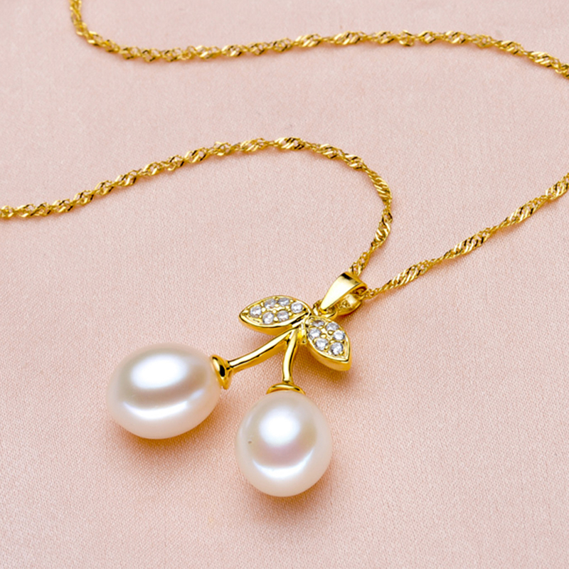 LACEY pearl pendant gold fine jewelry,natural freshwater pearl pendant necklace silver 925 chain for women girlfriend best giftsY1883008