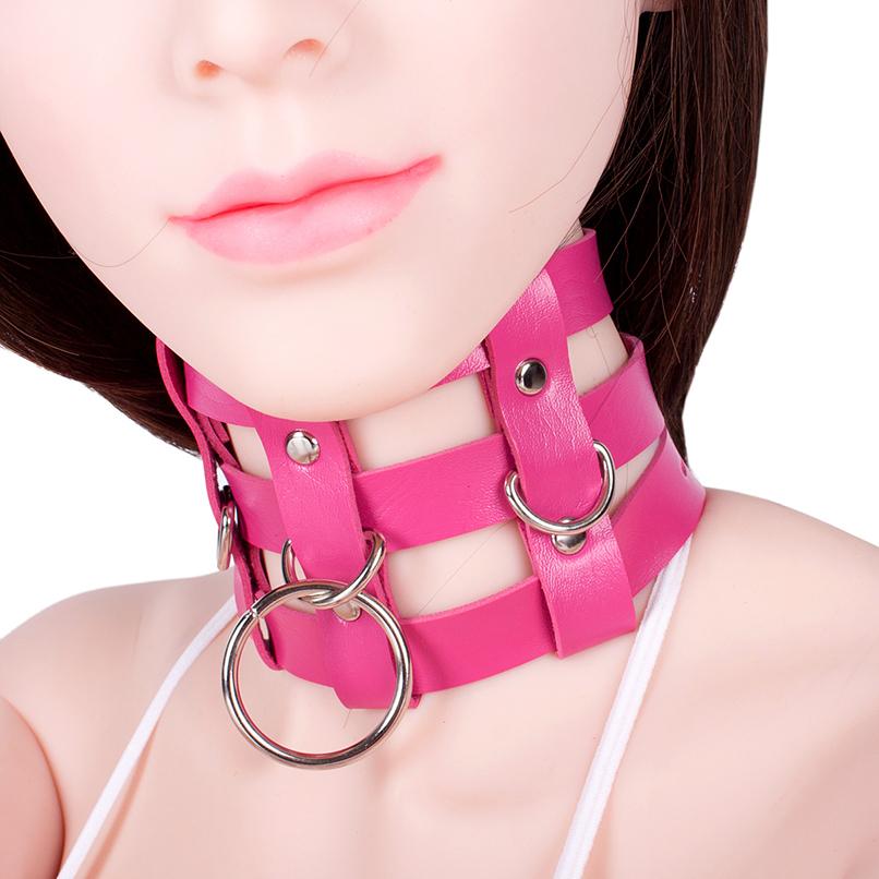 PU Leather Neck Collar Choker for Women Sexy Collar Bondage Restraints Gear S&M BDSM Flirting Sex Toy Slave Erotic Sex Product