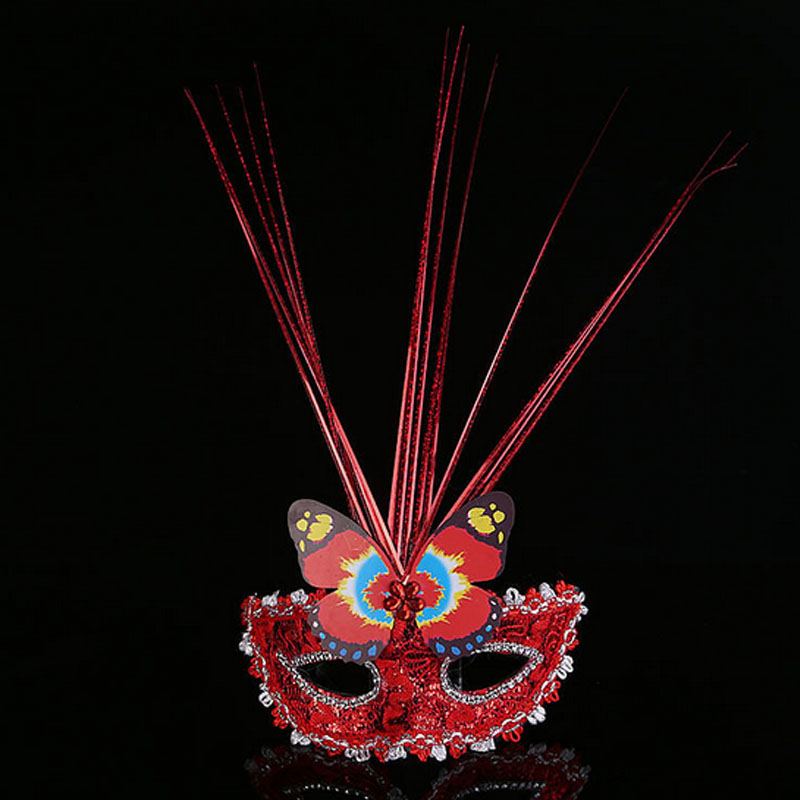 Charm Lady Girl Butterfly Mask Queen Venetian Costume Masquerade Half Face Party Weddings Cosplay Masks