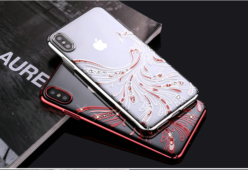 KINGXBAR Cover for iPhone Xs Cover Luxury Transparent Case for iPhone Xs Max Case Crystals from Swarovski for iPhoneXs Coque (15)
