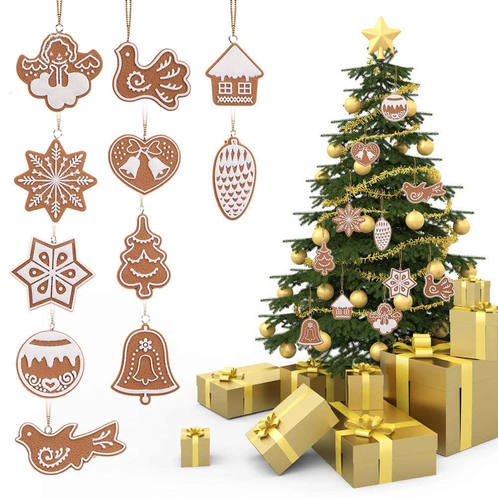 11PCS Wooden Hanging Nutcracker Soldier 12cm Christmas Tree Decoration Decor