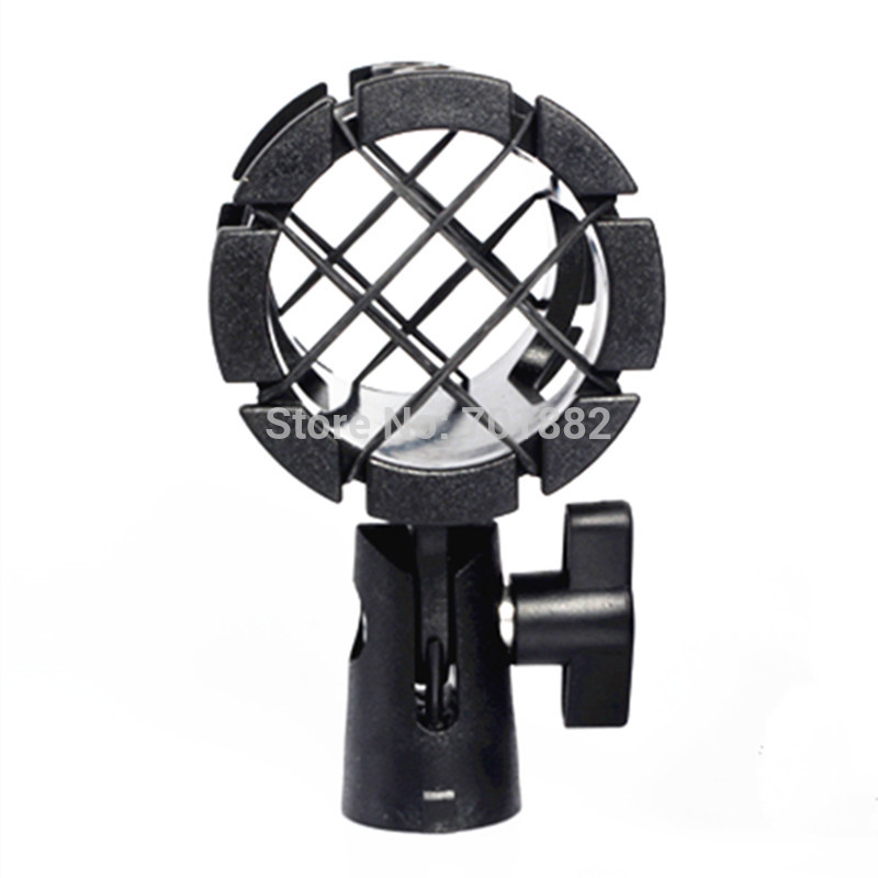Shotgun Microphone Mic Suspension Shock Mount Pencil Clamp (2)