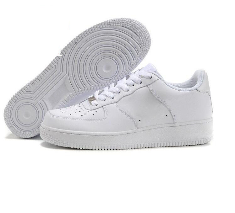 Nike Air Force one 1 flyknit one af1 flyknit low shoes CORK Pour HommesFemmes Haute Qualité Un 1 Chaussures De Course Bas Cut Tous Blanc Noir Couleur