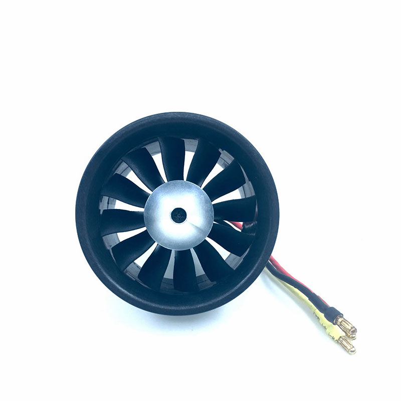 QX-MOTOR DIY RC Drone Accessories Parts 64mm EDF 2822 2400KV Brushless Motor Composite Material Housing 12 Blades Duct Fan