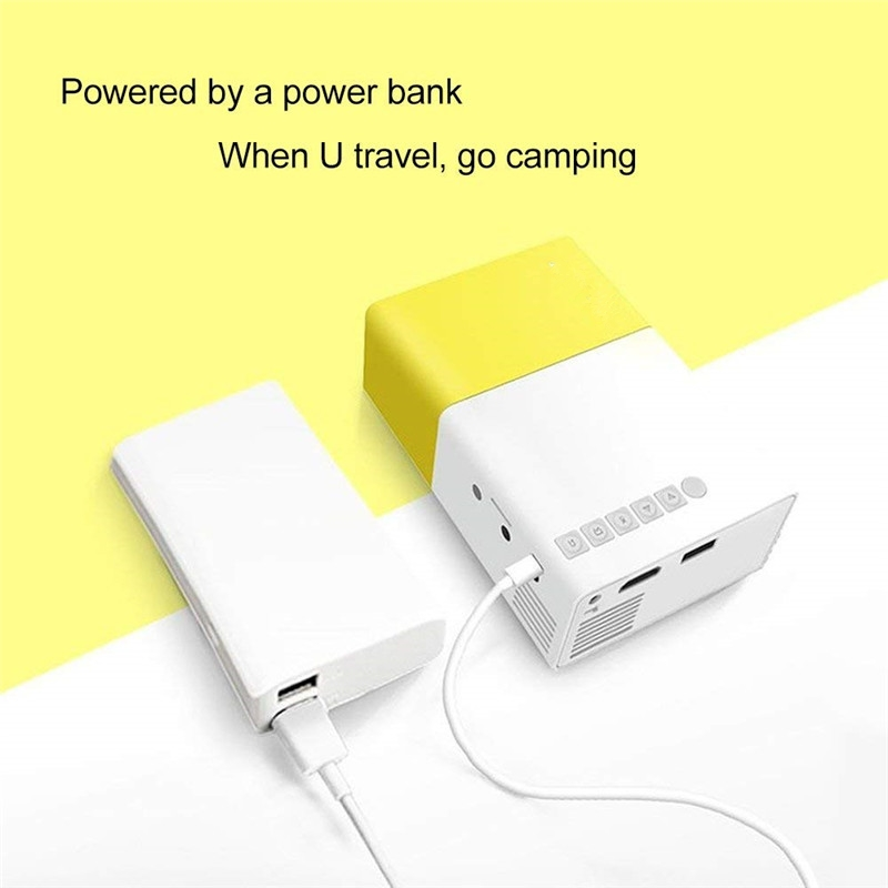 Mini projecteur de poche 1080P Pico Projecteur pour Home Movie Cinéma Vidéo Party Camping Assistance iPhone Ordinateur Portable Smartphone LED Projecteurs LCD