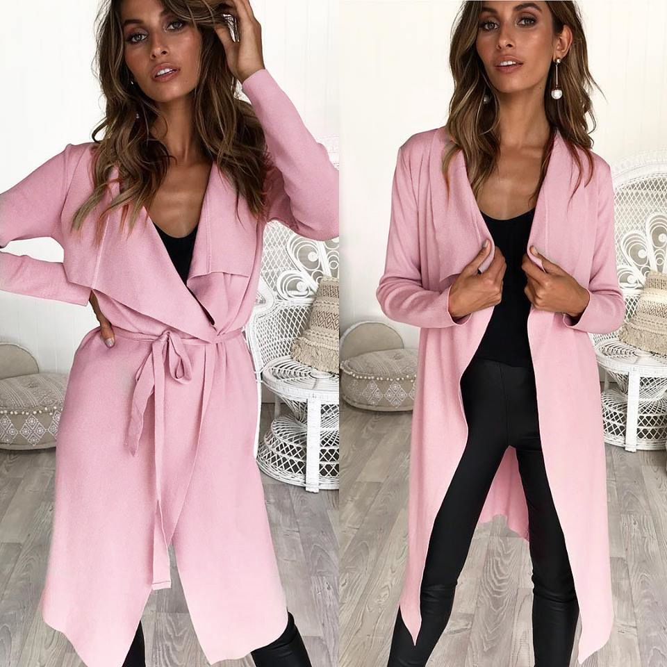Goods In Stock ! Autumn And Winter Irregular Knitting Unlined Upper Garment Long Loose Coat Sweater Jacket Suit-dress