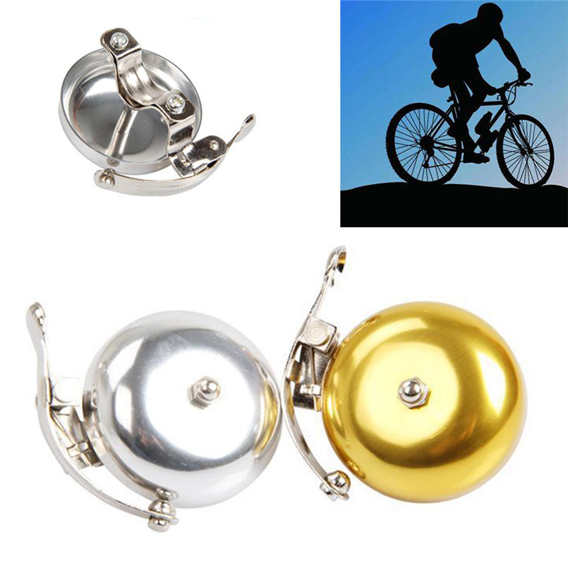 Bicycle Retro English Bell Ringing Bell Aluminum Silver Coffee Brown