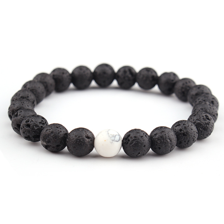 7 Chakra 8 Mm Natural Stone Bracelets Lava Volcanic Stone Bracelet Handmade Beads Bracelets Energy Yoga Charm Bangle For Women Jewelry H544F