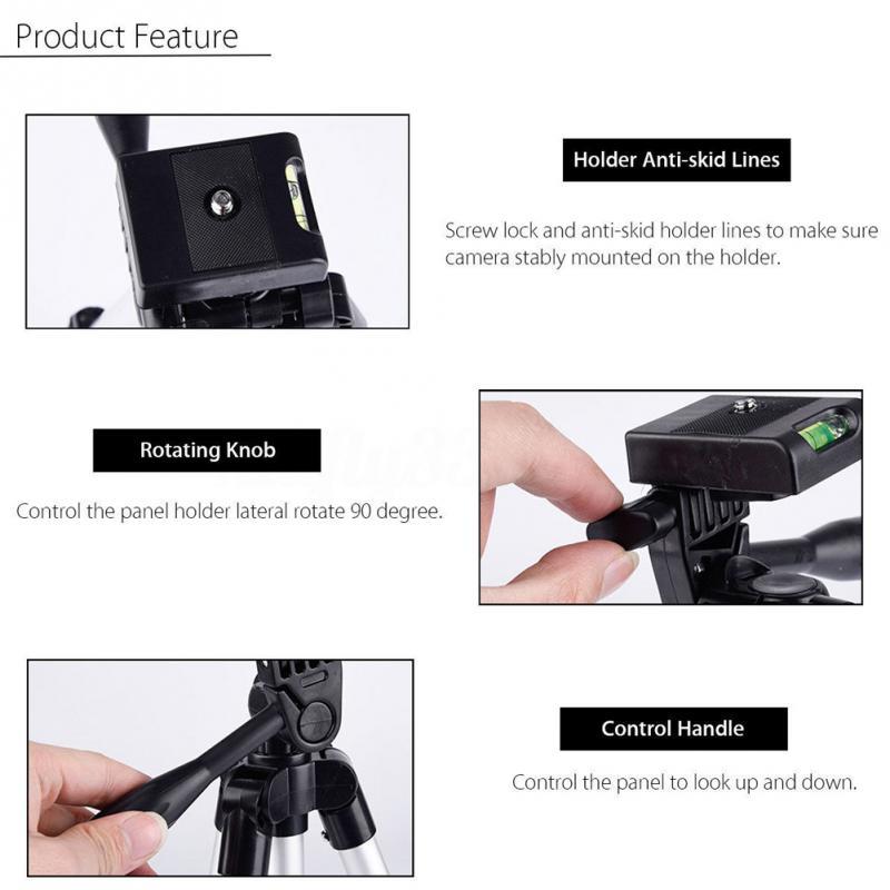 Tripods camera stand cam smartphone mobile phone holder monopod tripe extension stick tripod for camera standaard (4)
