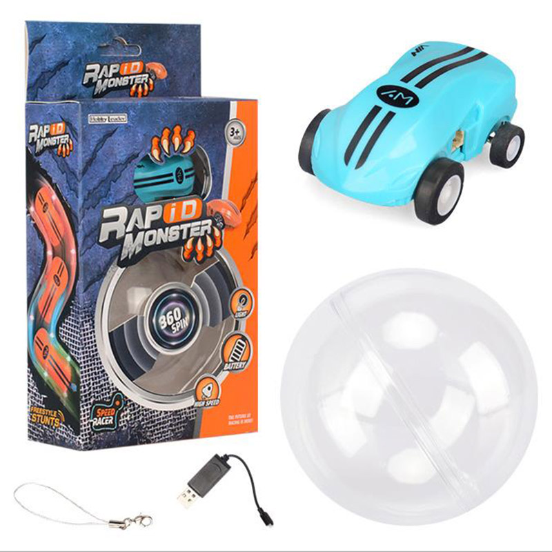 Mini Iluminación de alta velocidad Car Pocket Mini Toy Car Car 360 Degree Rotary Stunt Small Racing Modelo Toy Regalo de Navidad