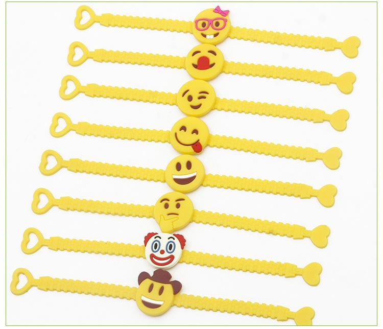 PVC Unicorn Emoji Pulseiras Favores Do Partido de Aniversário Favores Suprimentos para Crianças Meninas Emoticon Brinquedos Rubber Band Pulseira de Presente de Natal
