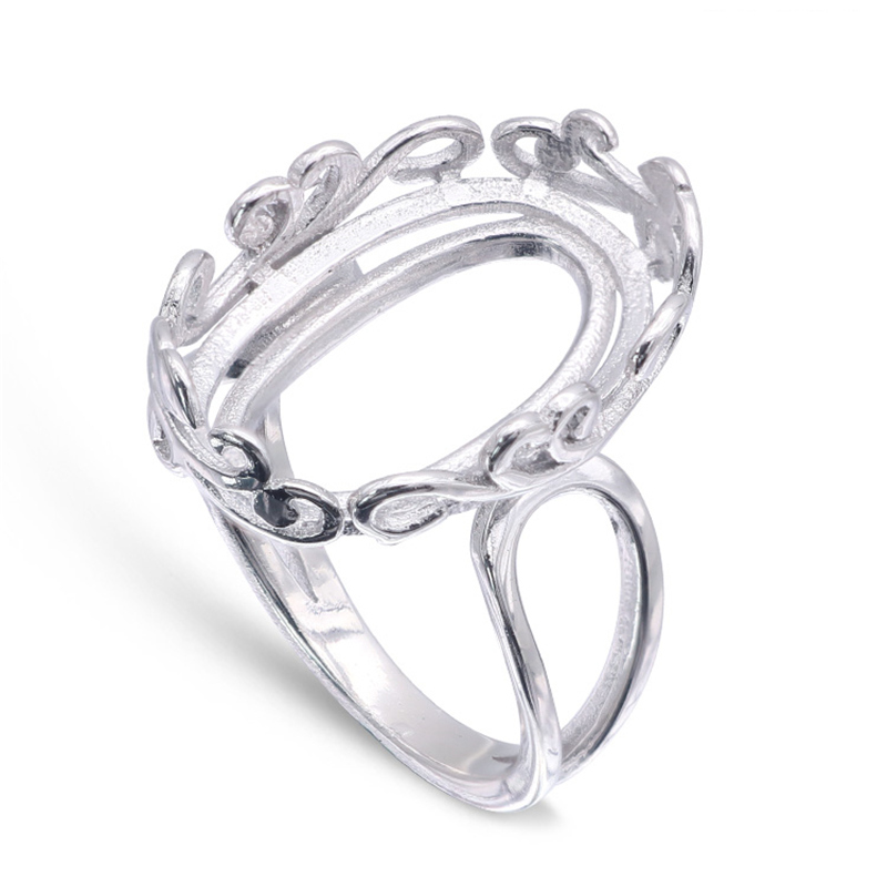 LOCHING Fashion Heart Lovers Ring 925 Sterling Silver Zircon Ring Adjustable Size