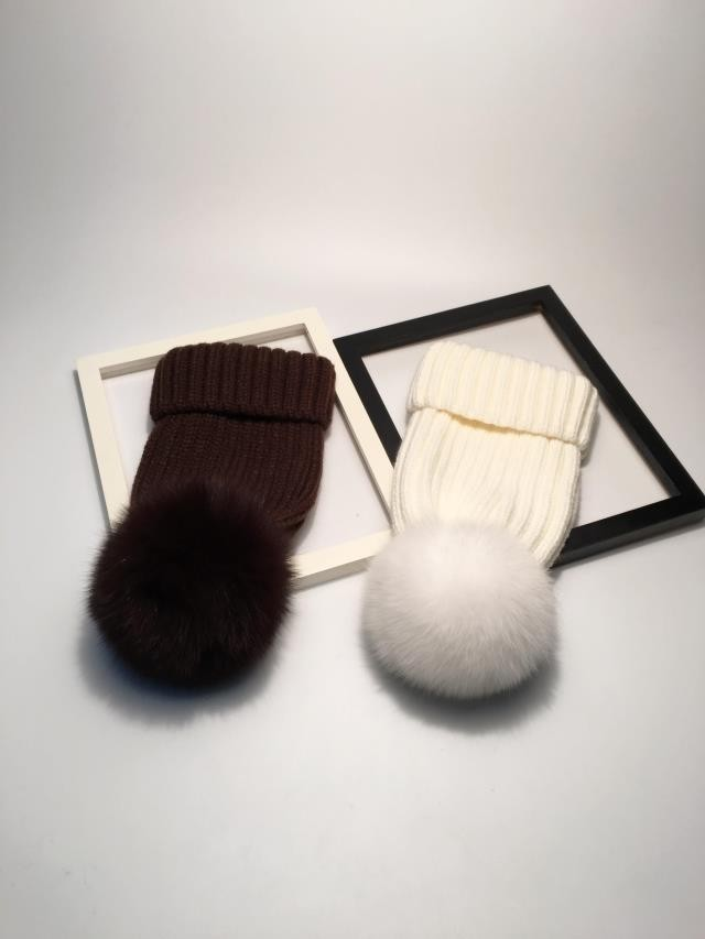 pompom hat fur hat winter hats for women knitted hat winter beanie hat women hat (2)