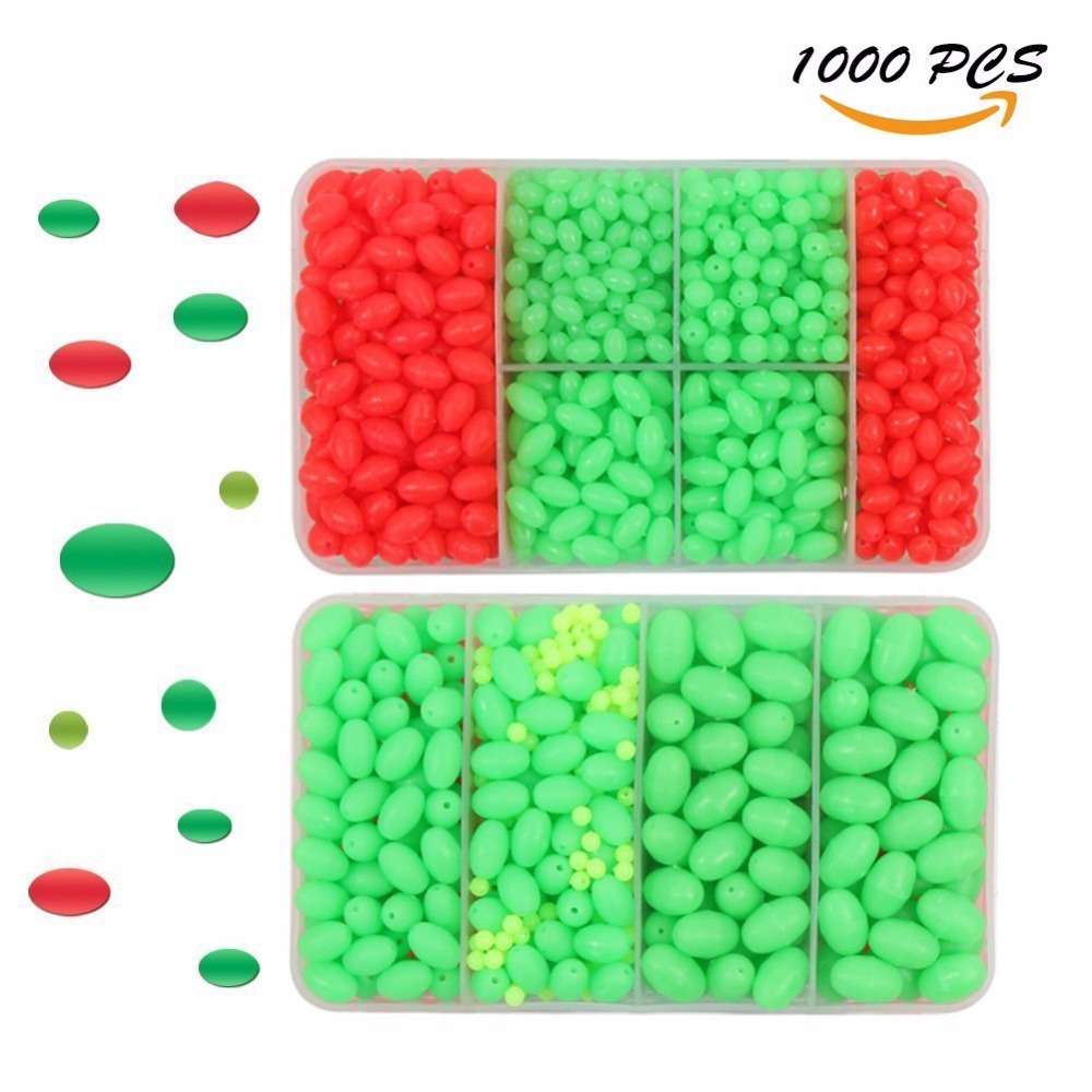 Hard Plastic Oval Shaped Fishing Beads Fish Round Beads Fishing Lures Biats Beads Fishing Tackle Tools Eggs for Saltwater Fishing (5)