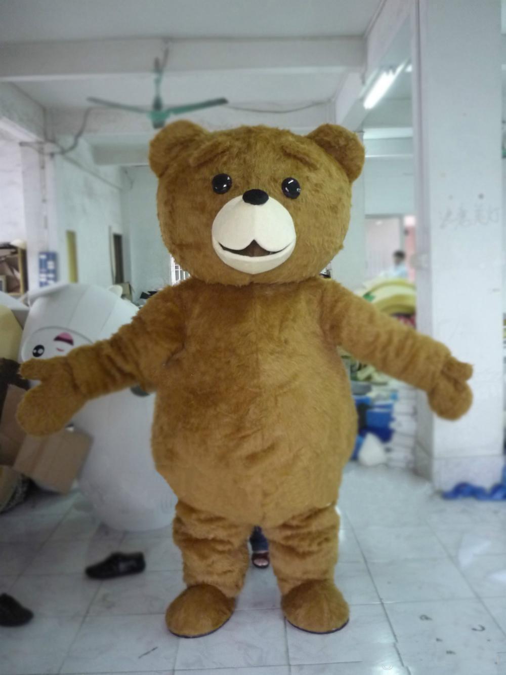 2018 Factory sale hot Mascot Adult size Cartoon long plush ted brown bear Mascot Costume mascot halloween costume christmas Crazy Sa